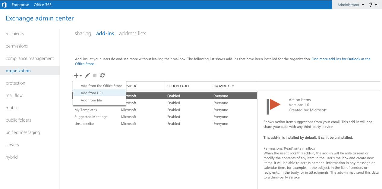 5 – Install Outlook Add-In – Libraesva Docs